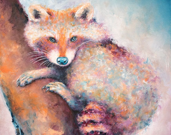 Raccoon Painting