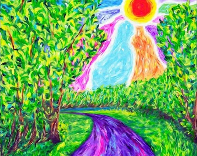 Stream of Consciousness Landscape Print
