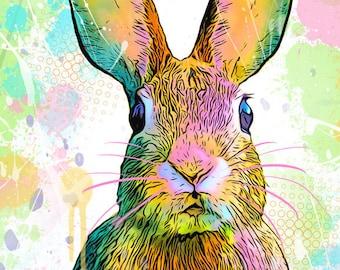 Spring Bunny Rabbit Print