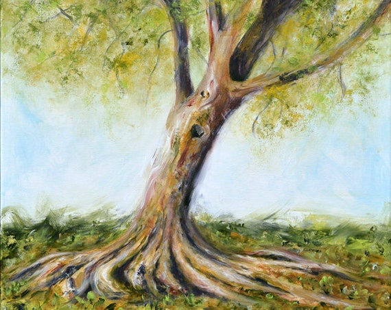 Tree at Riverside Park Painting