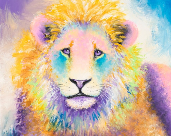 Original Lion Painting Acrylic on Canvas