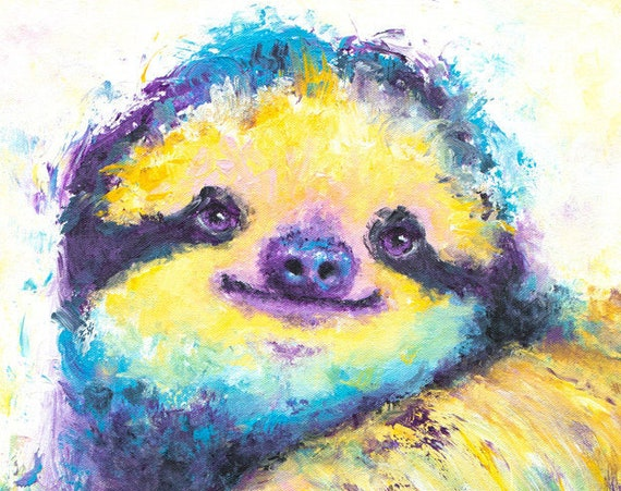 Three-Toed Spirit Sloth Print