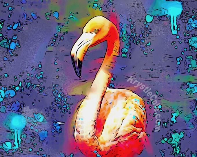 Dark Flamingo Print