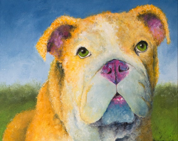 English Bulldog on a Sunny Day Original Painting
