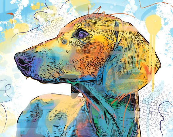 Abstract Dachshund Print
