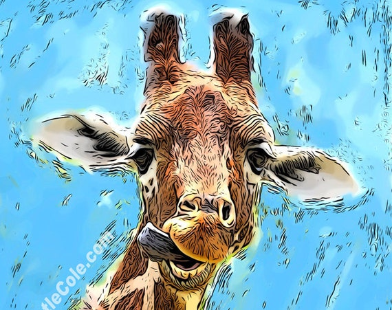 Funny Giraffe Print