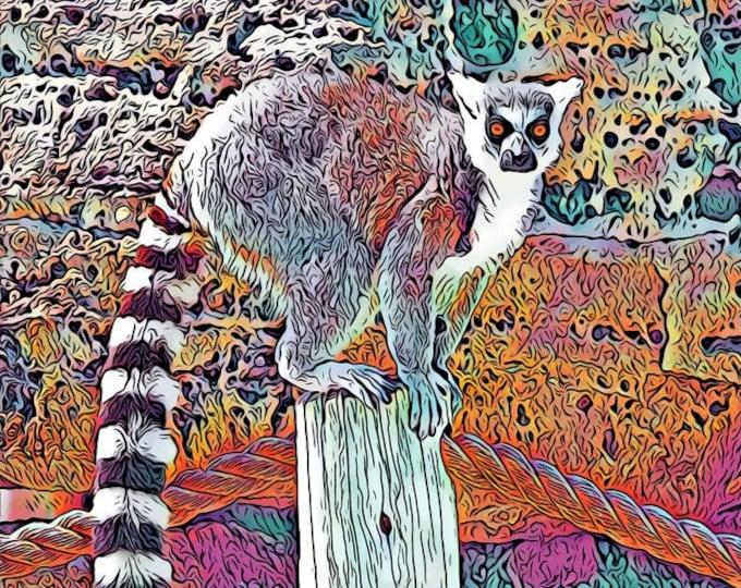 Tanganyika Lemur Print