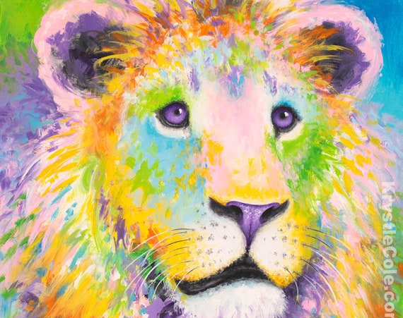 African Lion Painting