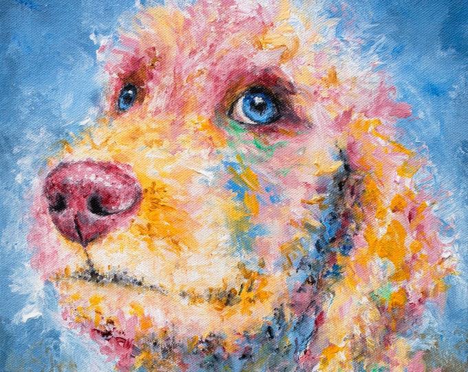 Golden Doodle Puppy Print - Reese