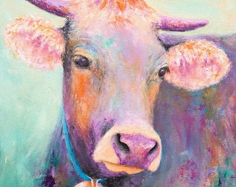 Purple Cow Print
