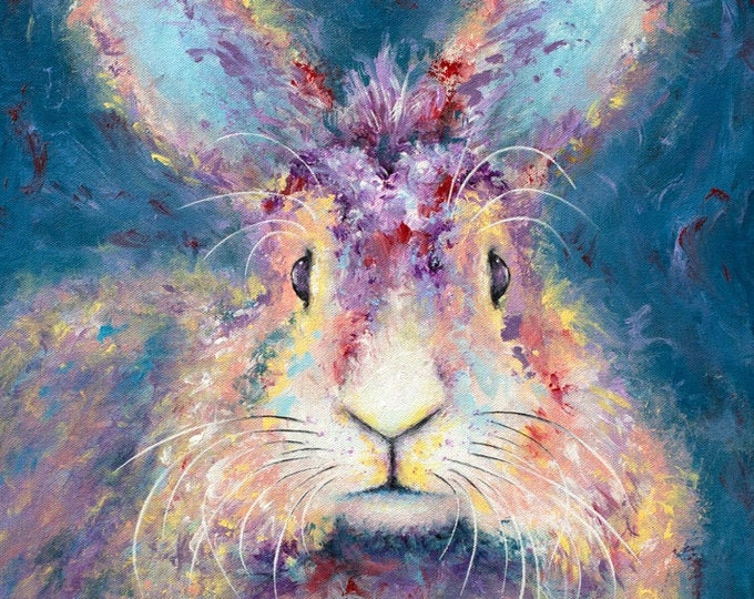 Long-Haired Rabbit Print
