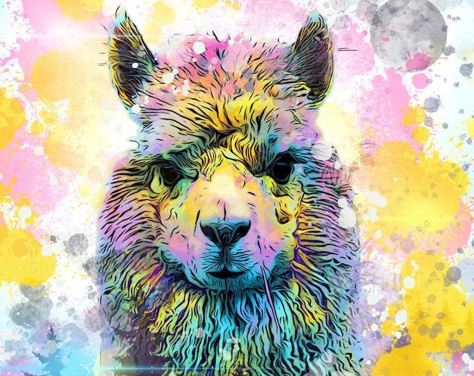 Alpaca Forest Print