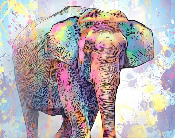 Asian Elephant Print