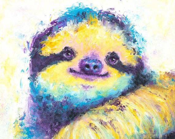 Three-Toed Spirit Sloth Print