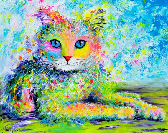Sunshine Kitty Painting