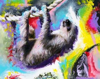 Cosmic Dance of the Inner Sloth Print