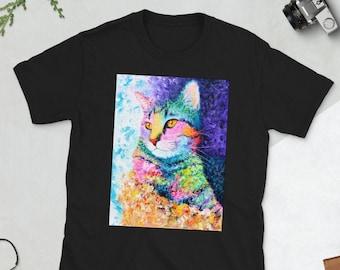 Rainbow Tabby Cat Unisex T-Shirt