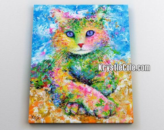 Karma Cat Canvas Print