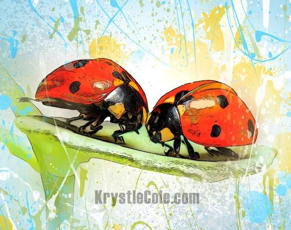 Lady Bugs Print