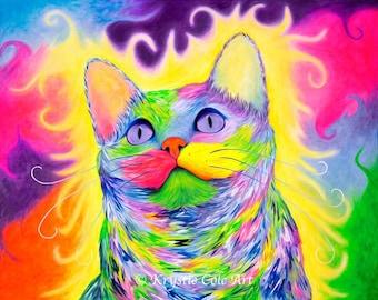 Rainbow Kitty Print