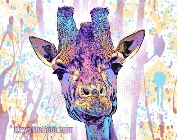 Purple Giraffe Print