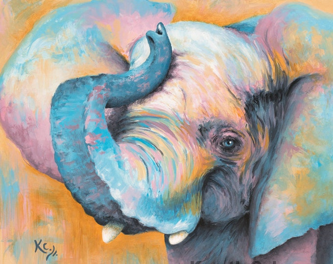 Elephant Stephanie Print