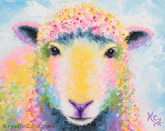 Sheep Ewe Print