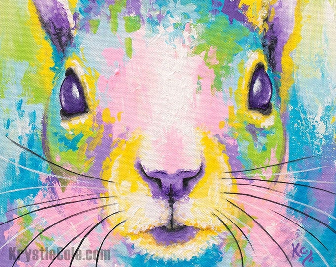 Spring Squirrel Print