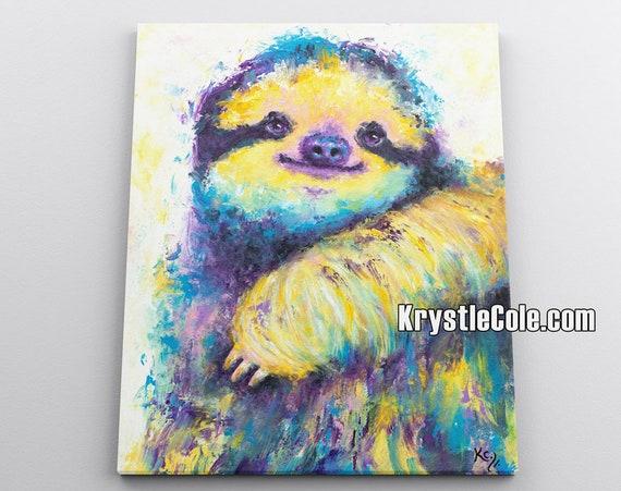 Three Toed Spirit Sloth Canvas Print