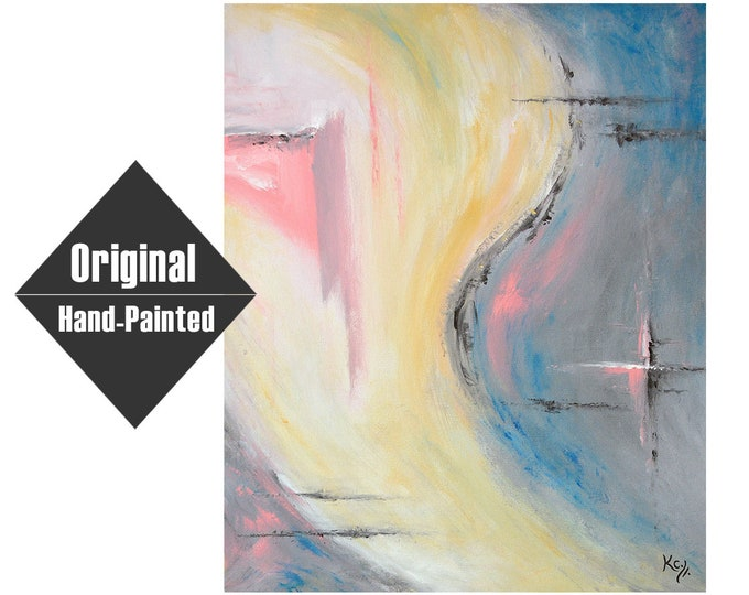 "Pink Cross Painting - 20x24"""