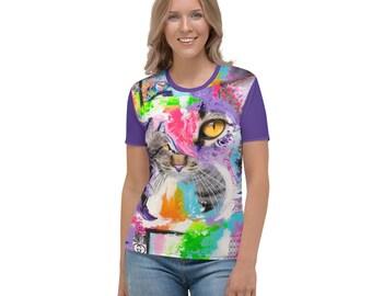 King Samadhi Cat Women's All Over Print T-Shirt