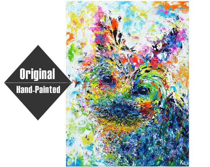 "Yorkie Painting - Huan- 18x24"""