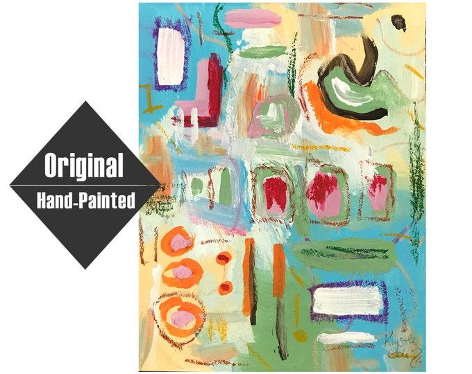 """Facing Inward Painting - 7x9"""""""