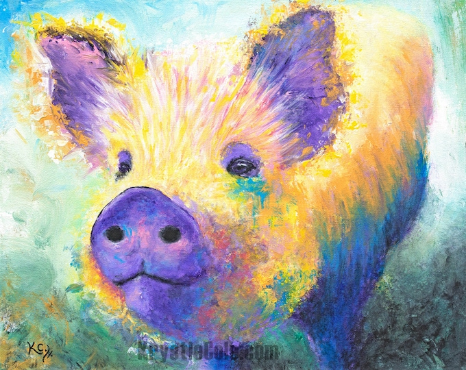 Pig Print - Rainbows Aren't for Dinner