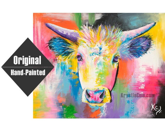 """Ghost Cow Painting - 24x30"""""""