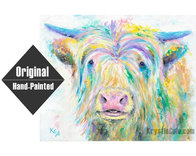 """Highland Cow Painting - 16x20"""""""
