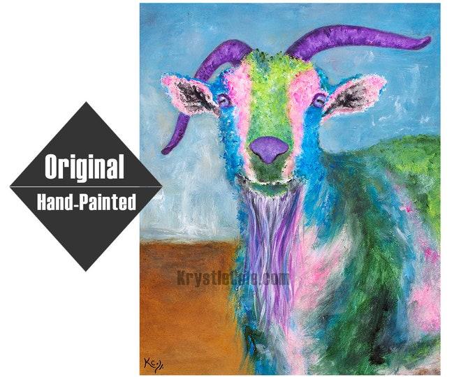 "Billy Goat Original Painting- 20x24"""
