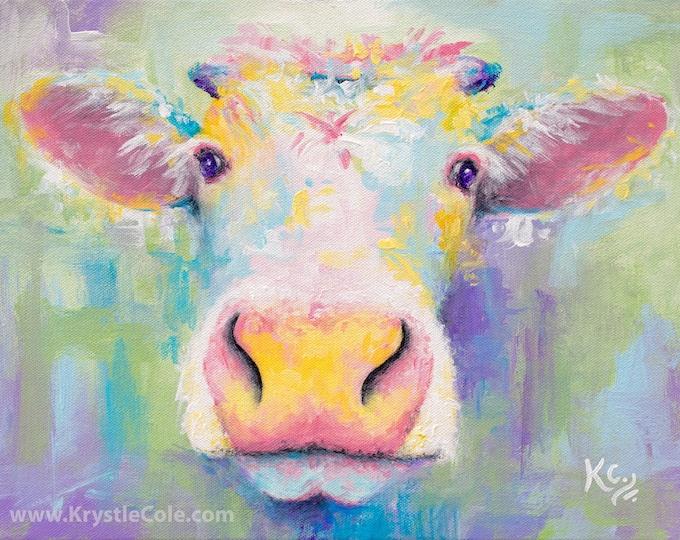 Spring Cow Print