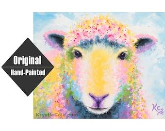 "Sheep Painting ""Ewe"" - 11x14"""