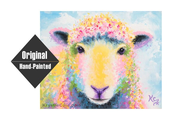 "Sheep Painting ""Ewe"""