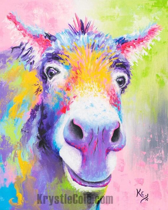 "Donkey ""Hank Williams"" Painting"