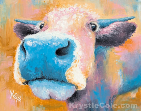 Blue Cow Painting