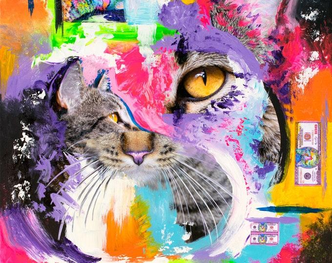 King Samadhi Cat Print