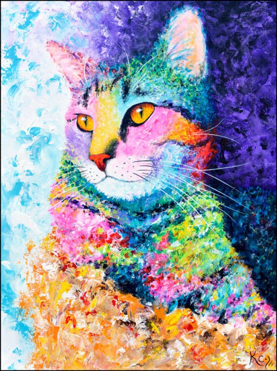 Rainbow Tabby Painting