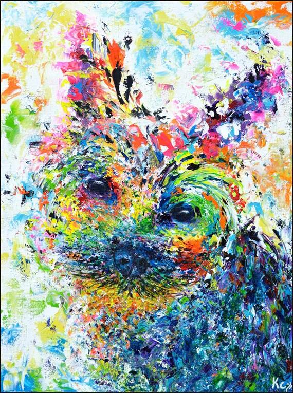 Yorkie Painting - Huan