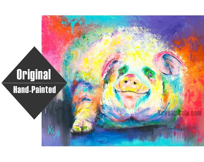 "Pig Painting - Hog Wild- 24x30"""