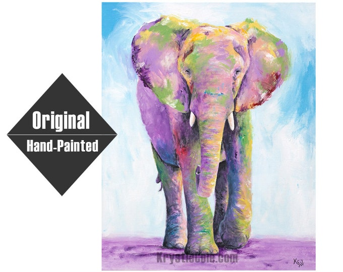 "Elephant Titan Original Painting - 24x30"""