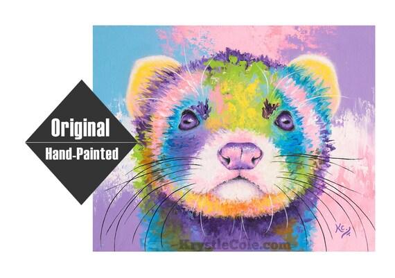 "Ferret Painting - 16x20"""