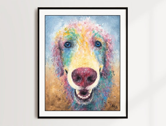 Golden Retriever Print - Kansas Jayhawk