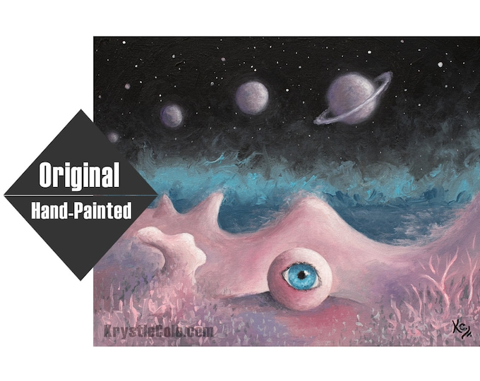 """Surreal Space Trip Painting - 16x20"""""""